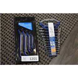 Two new in package Mastercraft Imperial wrenches including 11 piece short combination wrench set and