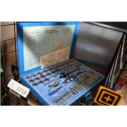 Mastercraft 60 pce. tap and die set and a vintage tap and die set in wooden box
