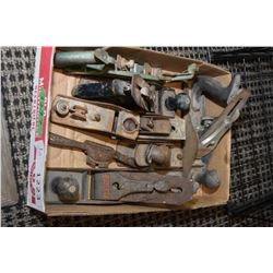 Approximately 8 vintage carpenter's vices