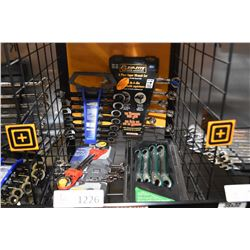 4 new Mastercraft metric wrench sets including 6pce. Grip-tite combination wrenches, a 7 pce. combin