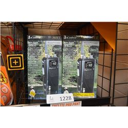 Two new in box Cobra model HH36ST Ultra clear hand held CB radios