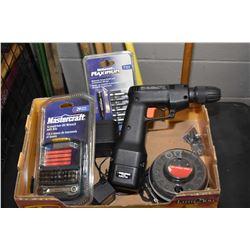 Black & Decker 8.4 volt cordless drill and 3 sets of screwdriver bits