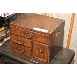 Four drawer wooden storage box