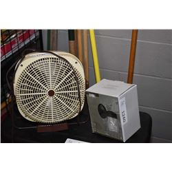 Oscillating fan and 2 outdoor house lights
