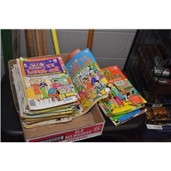 Collection of vintage comics including Sabrina the teenage witch, Archie etc.