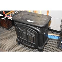 Cast iron stove motif electric heater