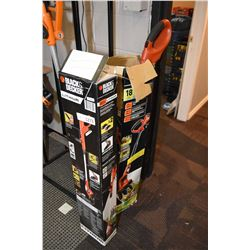 Two Black & Decker cordless edge trimmers including an 18 volt and a 20 volt, note no batteries, not