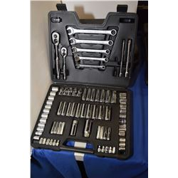 """New albeit missing 3 pces. Mastercraft 3/8"""" & 1/4"""" drive socket set with accessories"""