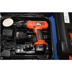 Boxed Black & Decker Firestorm 7.6 volt drill with accessories