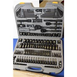 """New in box Mastercraft Maximum tool kit including 1/4"""", 3/8"""" and 1/2"""" sockets and ratchets, allen wr"""