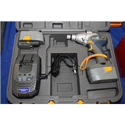 New in box Mastercraft Maximum cordless impact gun two batteries, charger and accessories