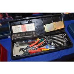 Selection of tools, mostly new including Imperial and metric long combination wrenches, screwdrivers
