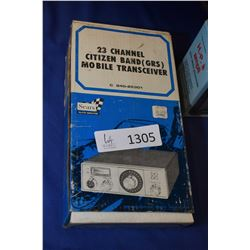 Boxed 23 channel Sears citizens band mobile transceiver