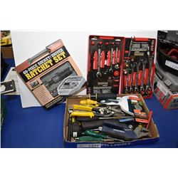 Selection of predominately new tools including combination wrenches, multi screwdrivers, adjustable