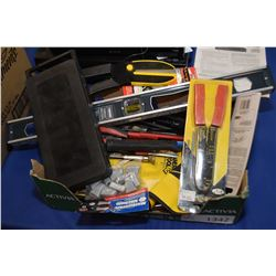 Selection of predominately new tools including socket set, cutting tools, wire crimper, screwdrivers