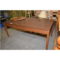 Large single drawer library table/desk