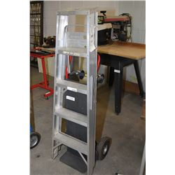 Five foot aluminium step ladder and combination stand up/lay down dolly
