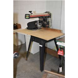 """Sears Craftsman 10"""" radial arm saw with selection of blades including dado"""