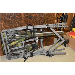 Folding hunter's tree stand and a quad mount rifle case