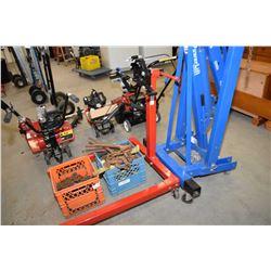 Adjustable rolling engine stand
