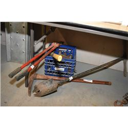 Pick axe, post hold, digger, jack stand etc.