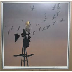 """Framed limited edition print """"Windtalkers"""", signed on print and on glass by artist Robert Bateman, 4"""