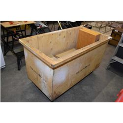 Shop made rolling tub cart