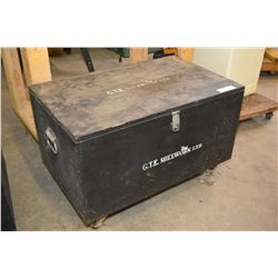 Shop made rolling and locking shop box