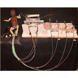 SHADOWBOXER ANIMATRONIC BABY PUPPET WITH TRIGGERS & BOARD INTACT