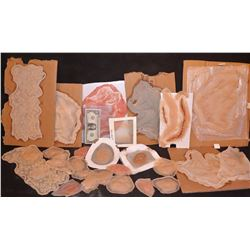 ZZ-CLEARANCE HUGE HORDE OF SILICONE SCARS CUTS BURNS ETC