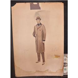 WARDROBE ORIGINAL HAND DRAWN ARTWORK PRE 1950 1