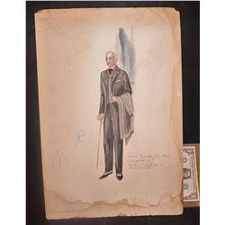 WARDROBE ORIGINAL HAND DRAWN ARTWORK PRE 1950 3