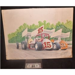 VINTAGE RACING ORIGINAL HAND SIGNED ARTWORK FROM THE 70's 1