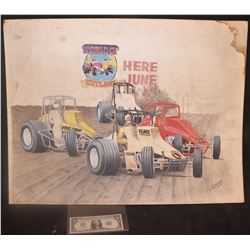 VINTAGE RACING ORIGINAL HAND SIGNED ARTWORK FROM THE 70's 2