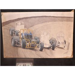 VINTAGE RACING ORIGINAL HAND SIGNED ARTWORK FROM THE 70's 3