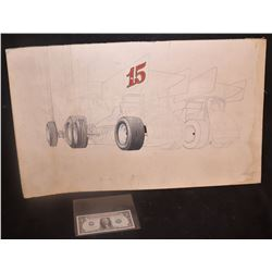 ZZ-CLEARANCE RACING ORIGINAL ARTWORK FROM THE 70's 4