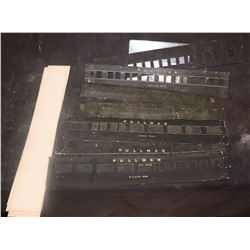 TRAIN LOT OF ANTIQUE FILMING MINIATURE PRINTED PARTS