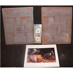 STARSHIP TROOPERS MARAUDER SCREEN USED MINIATURE BUILDINGS WITH BTS SCREEN MATCH PHOTO