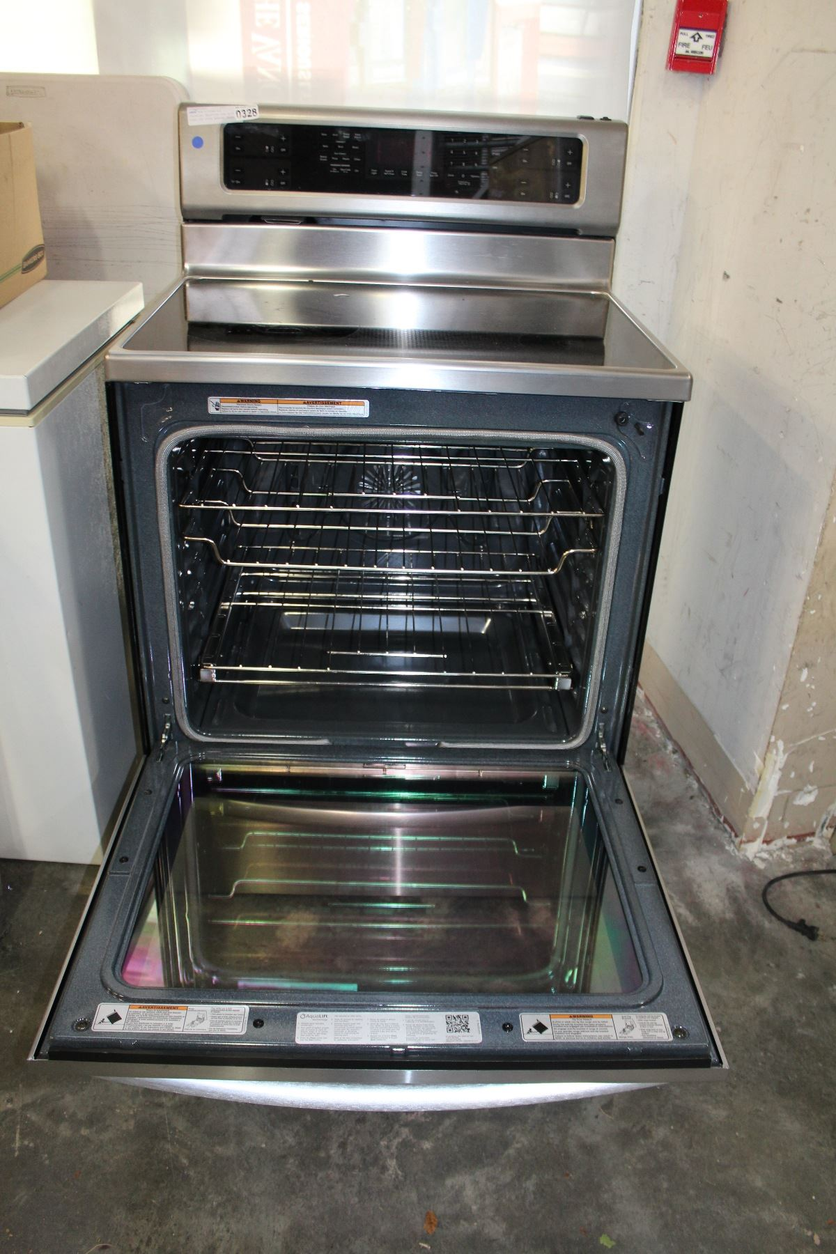 As New Kitchen Aid Stainless Induction Oven With Glass Top Stove Working Order
