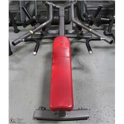 COMMERCIAL GRADE SUPINE BENCH WITH 25LBS WEIGHTS