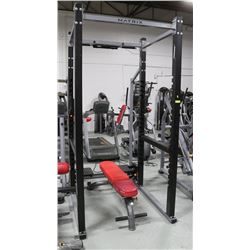MATRIX SQUAT RACK WITH ADJUSTABLE BENCH