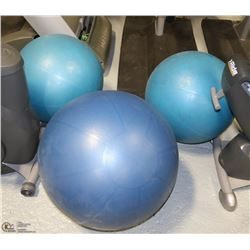 THREE YOGA BALLS