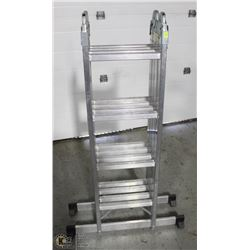 ALUMINUM MULTIFOLD LADDER