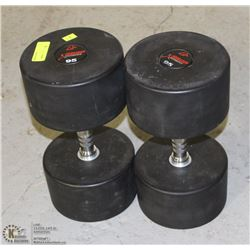 PAIR OF COMMERCIAL GRADE DUMBBELLS 95LBS