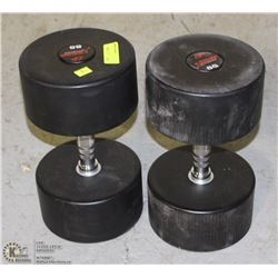 PAIR OF COMMERCIAL GRADE DUMBBELLS 85LBS