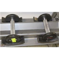 PAIR OF COMMERCIAL DUMBELLS 5LBS