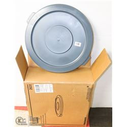 CASE OF RUBBERMAID COMMERCIAL GARBAGE CAN LIDS