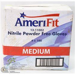 CASE OF AMERIFIT NITRILE POWER FREE GLOVES