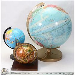 LOT OF THREE GLOBES