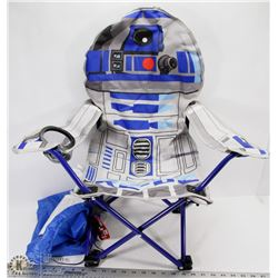 NEW CHILDS FOLDING  R2D2 STARWARS CHAIR WITH BAG